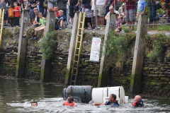 Kingsbridge - Kingsbridge Fair Week - Raft Race - Creeks End don't get far before swimming