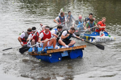 "Kingsbridge - Kingsbridge Fair Week - Raft Race - ""The Pat Rafters"" take on ""Toad Hall"""