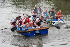"""Kingsbridge - Kingsbridge Fair Week - Raft Race - """"The Pat Rafters"""" take on """"Toad Hall"""""""
