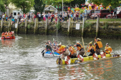 "Kingsbridge - Kingsbridge Fair Week - Raft Race - ""The Vikings"" raid ""Toad Hall"""